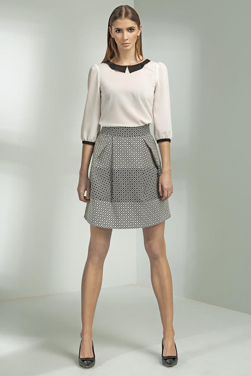 Dámska sukňa SP20 - Nife bílo-černá 40