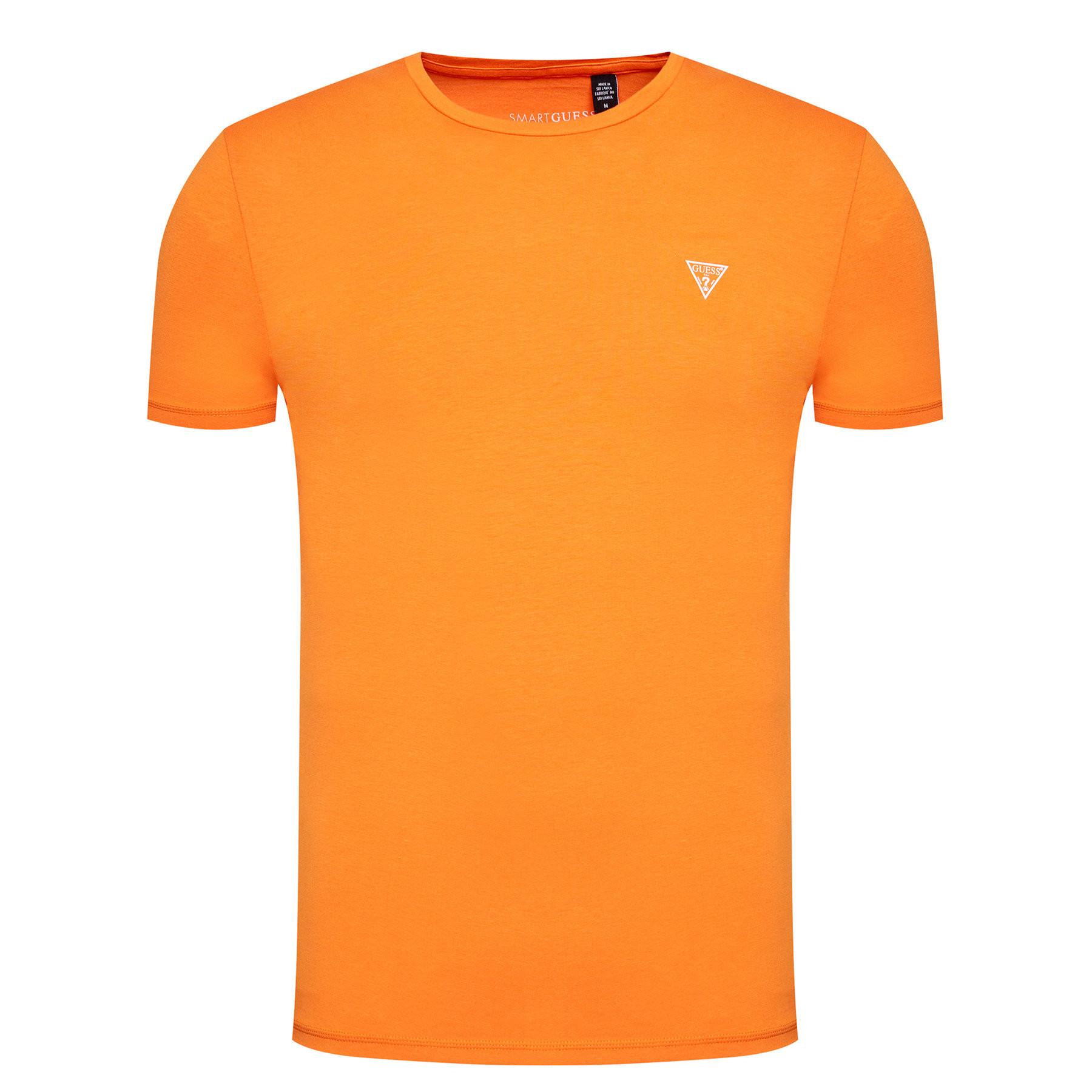 Pánske tričko U94M09K6YW1 - G3G4 oranžová - Guess oranžová L