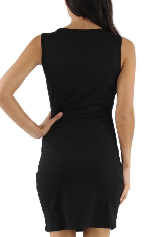 Spoločenské šaty LUXESTAR zdobené perlami - eF-79 čierna M
