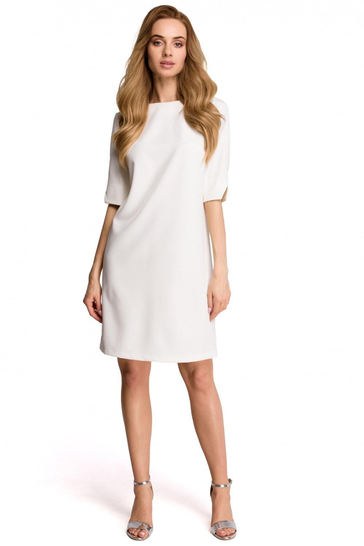 Dámske šaty S113 - Stylovo ecri (krémová) L