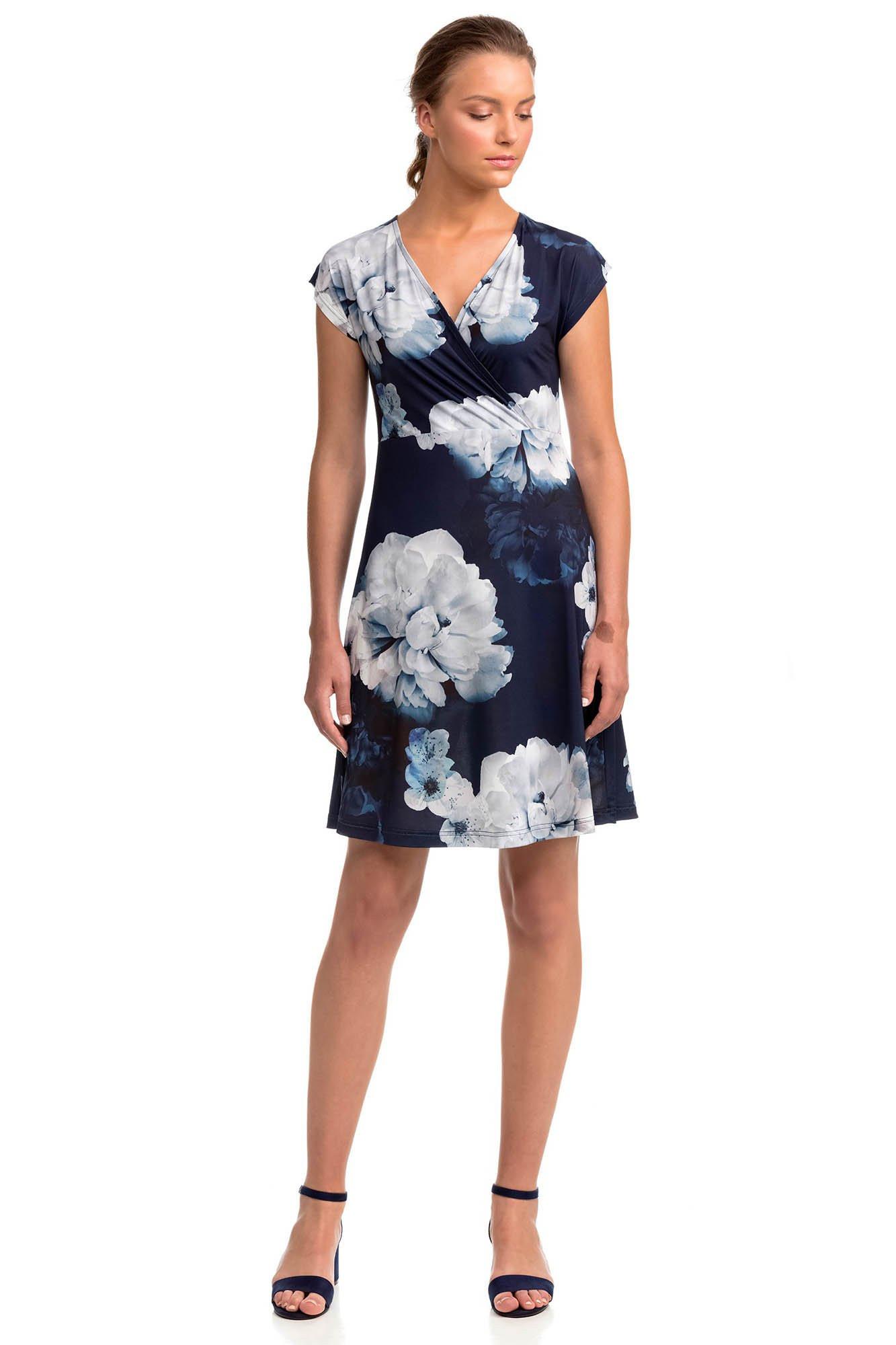Dámske šaty 14460 - Vamp modrá / biela M