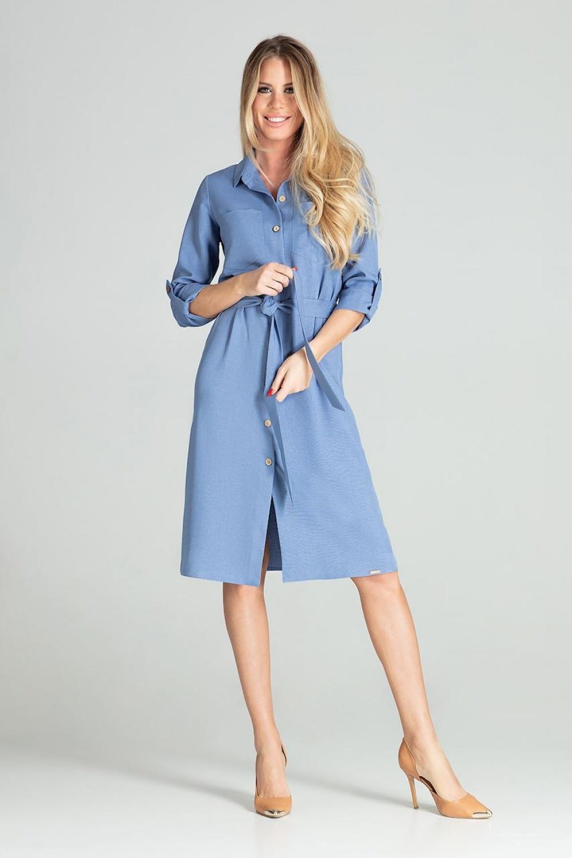 Dámske šaty M703 - Figl džíny - modré L-40