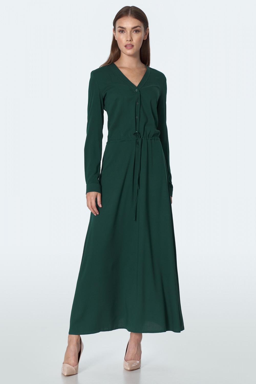 Dámske šaty S154R - Nife tmavo zelená 42