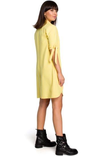 Dámske šaty B112 - BEwear béžová XL
