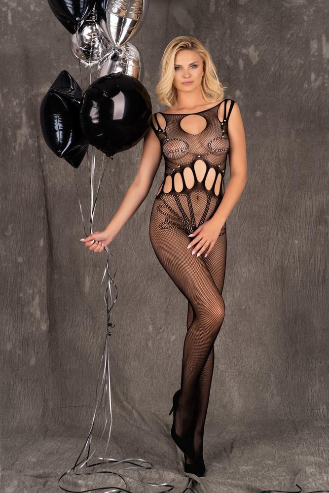 Erotické body Amahil - LivCo Corsetti čierna S / L