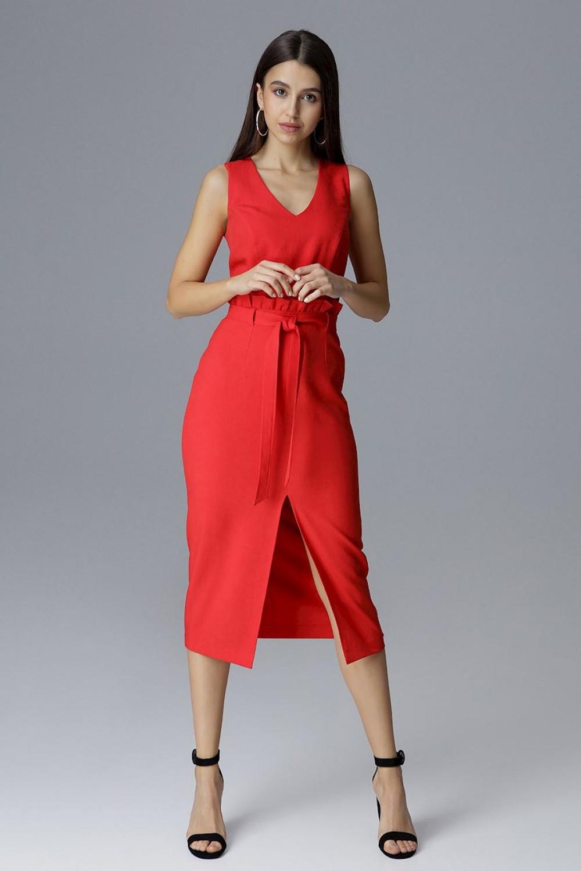 Dámske šaty M633 - Figl červená L-40