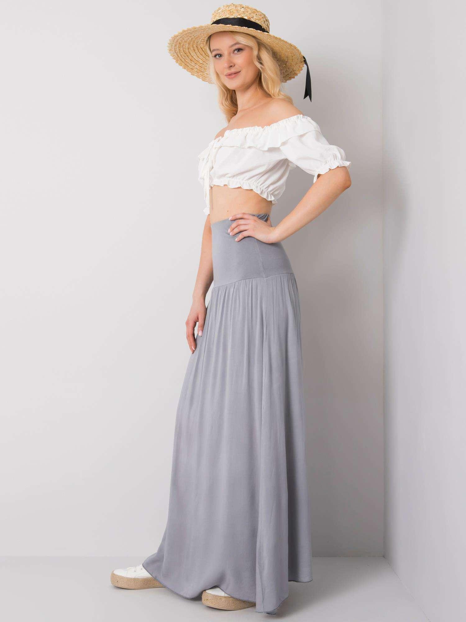 Dámská dlouhá sukně 82160 - OH BELLA bílá S