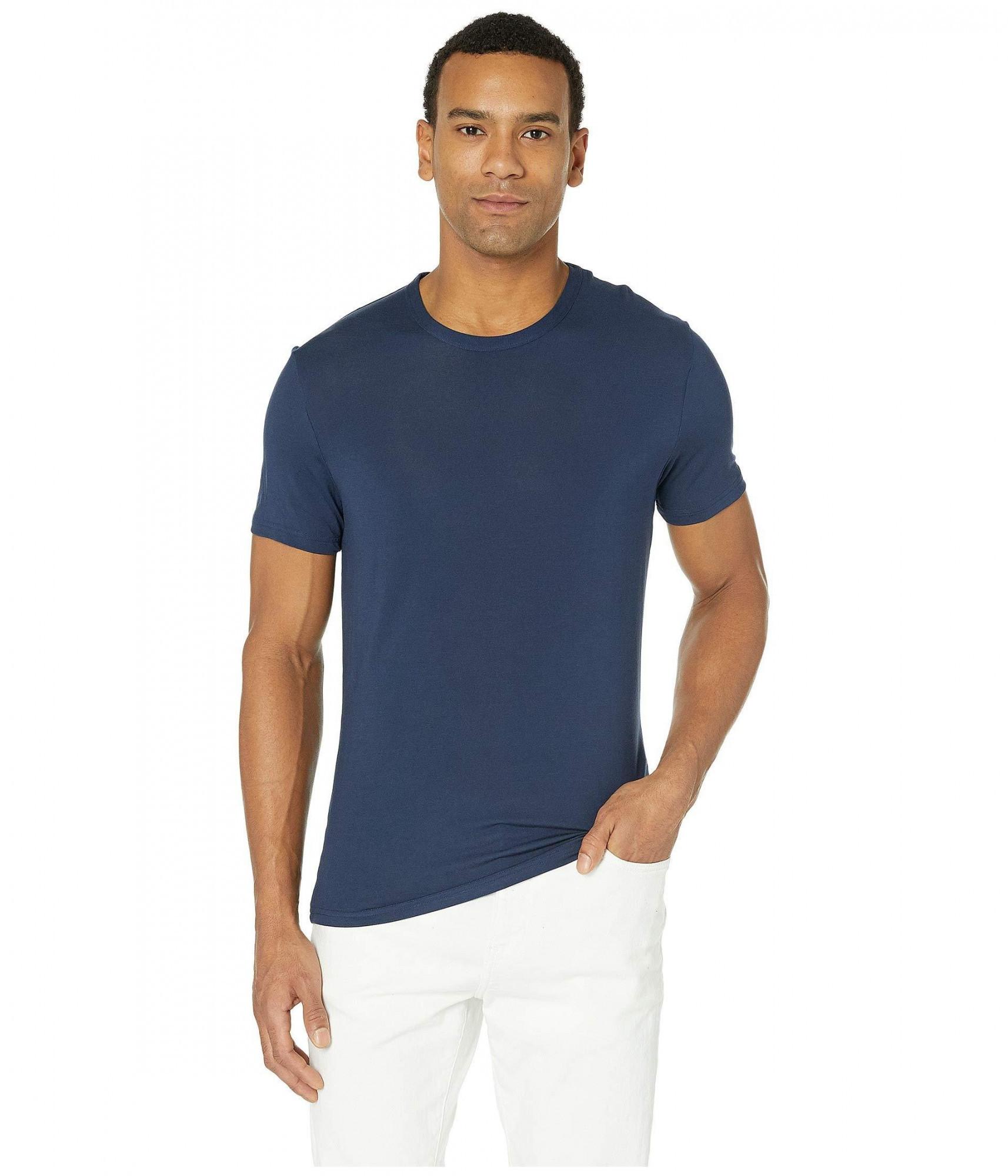 Pánske ultra-soft tričko NM1658E C9K kráľovská modrá - Calvin Klein kráľovská modrá L