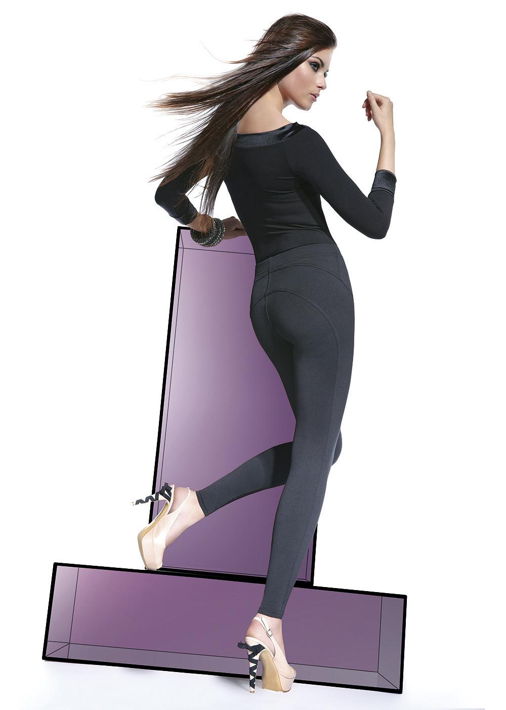 Legíny Sonia - Bas Bleu barva: černá, velikost: S
