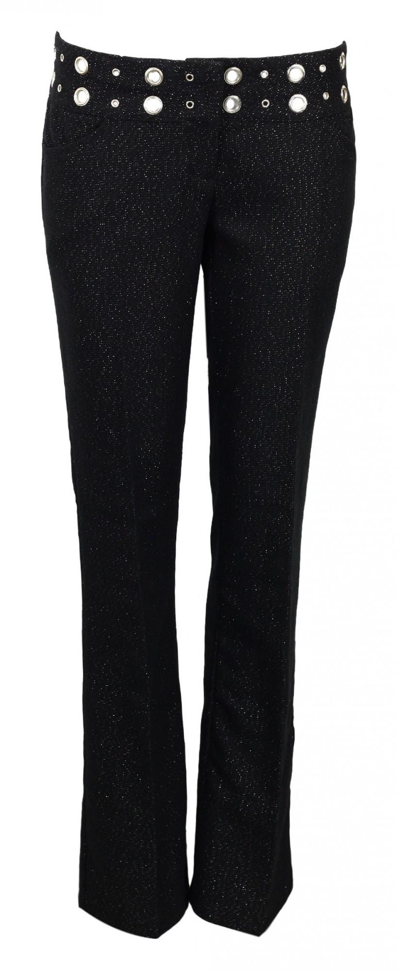Dámske nohavice - Koucla čierna s striebornou nitkou 40