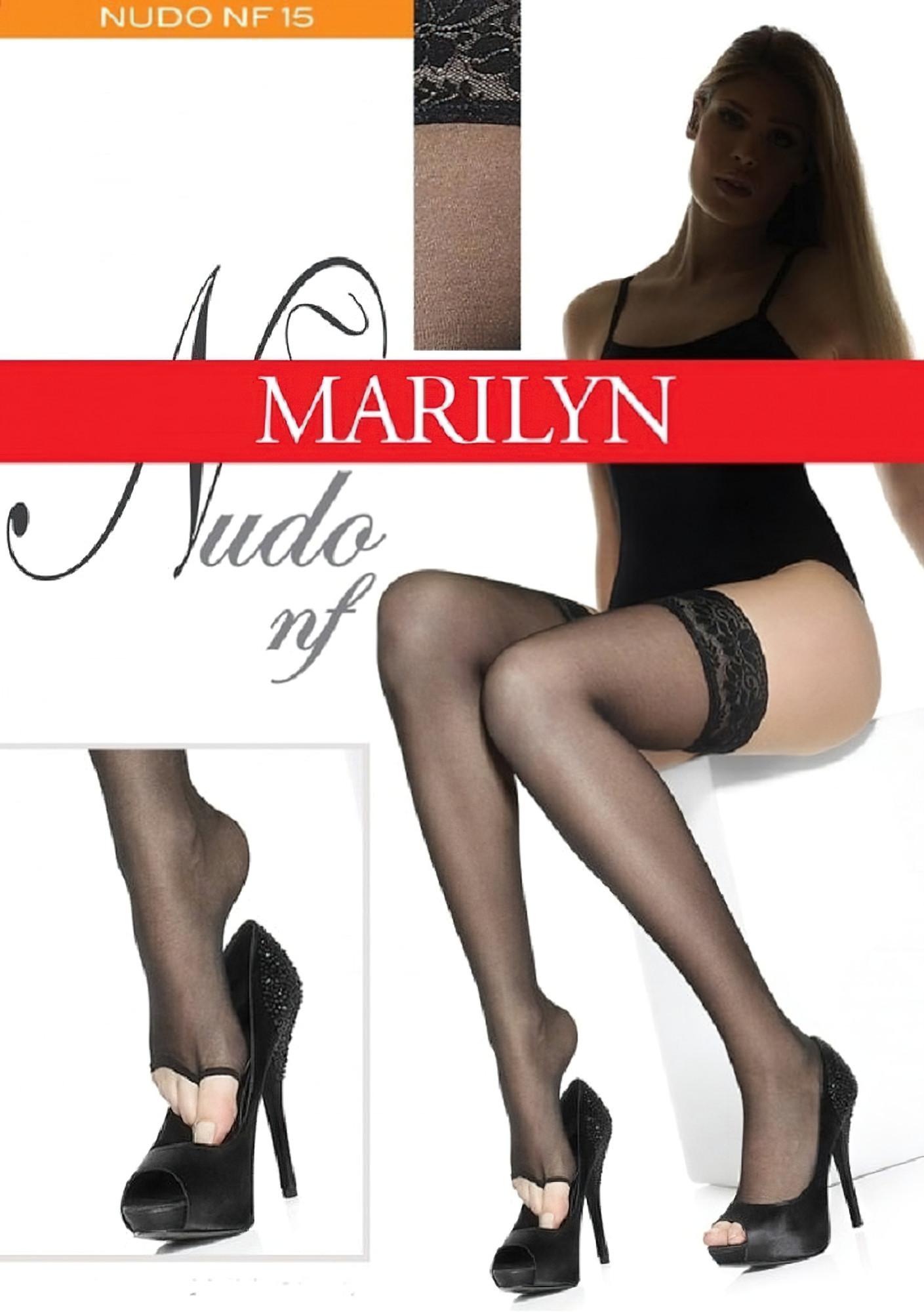 Samodržící punčochy s volnou špičkou Nudo nf Marilyn - Gemini Barva: tělová, Velikost: 1-2