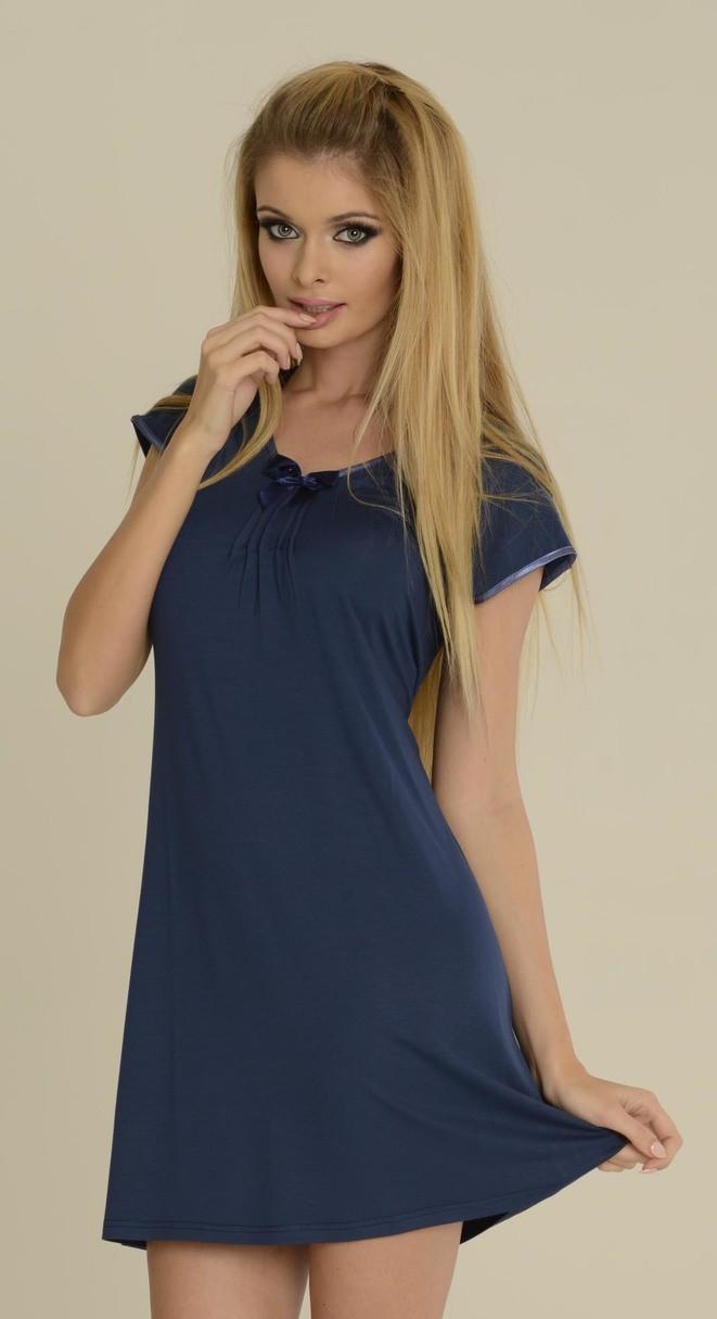 Noční košilka VISA 870 - DE LAFENSE barva: červená, velikost: L