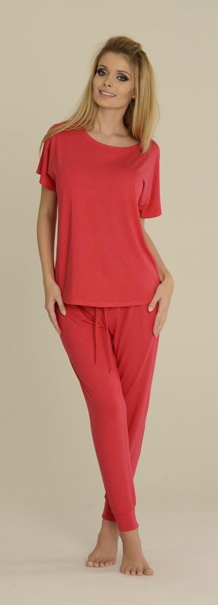 Dámské pyžamo PAULA 524 - DE LAFENSE malinová XL