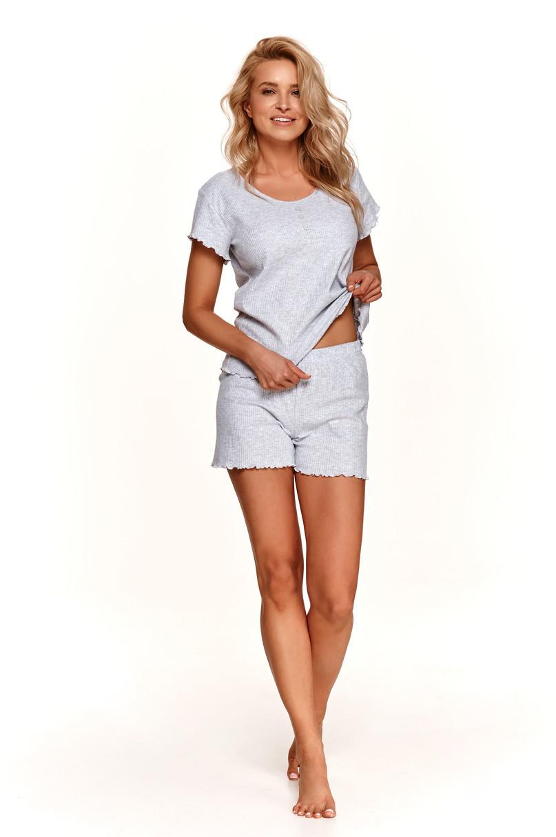 Dámske pyžamo 2528 ZOJA S-XL SZARY L