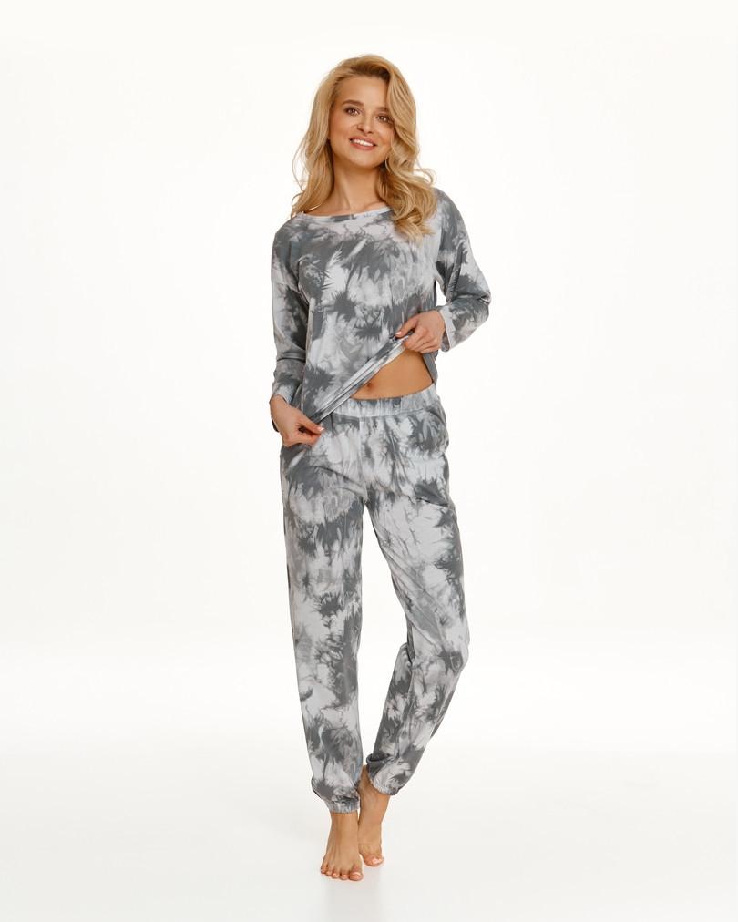 Dlhé dámske pyžamo 2554 PENNY Zima 2021 SZARY L