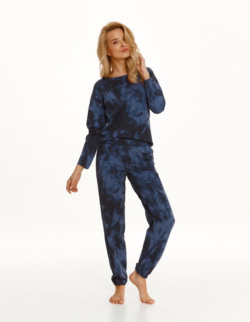 Dlhé dámske pyžamo 2554 PENNY Zima 2021 GRANATOWY L