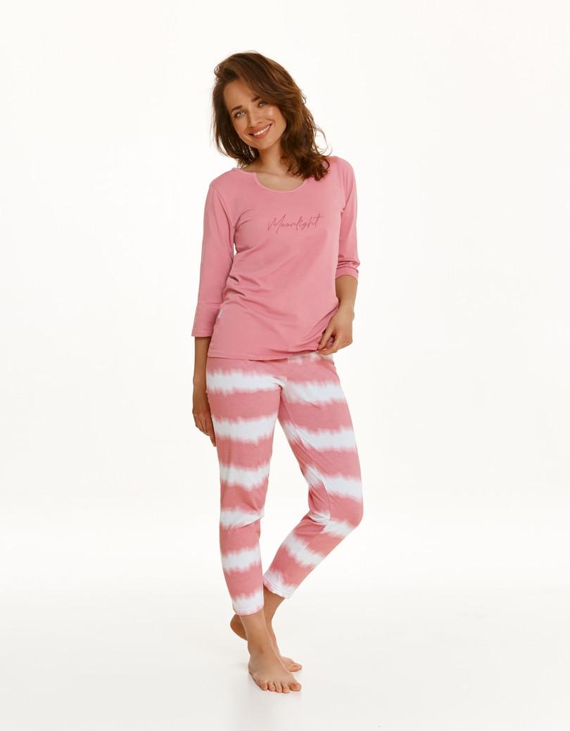 Dlhé dámske pyžamo 2567 CARLA Zima 2021 RÓŻ M