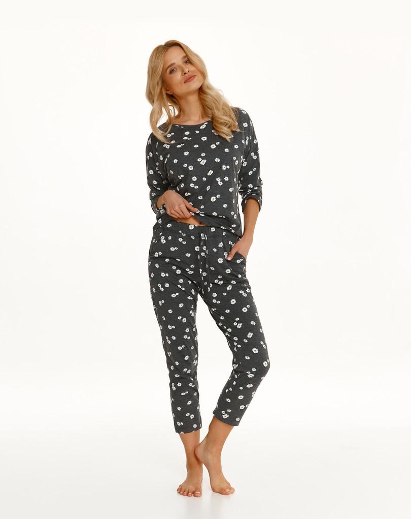 Dlhé dámske pyžamo 2571 Rais Zima 2021 šedá M
