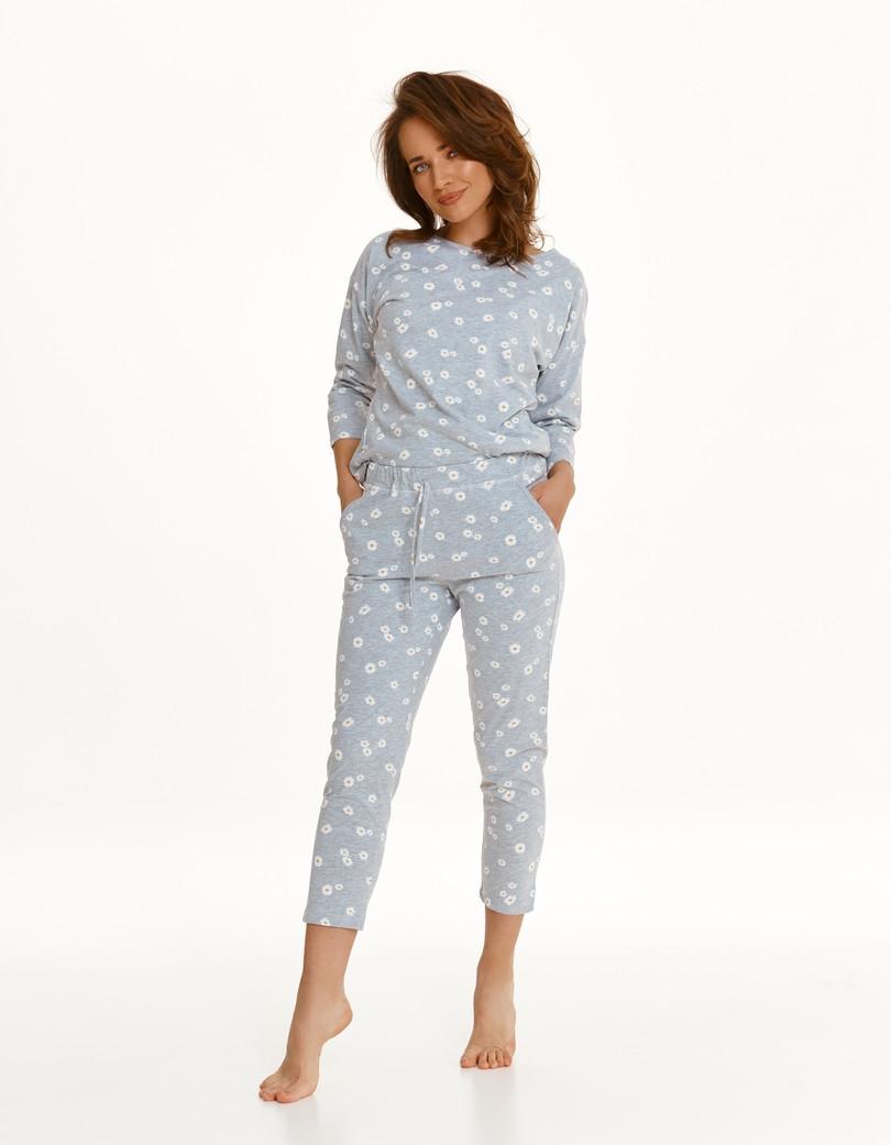 Dlhé dámske pyžamo 2571 Rais Zima 2021 SZARY M