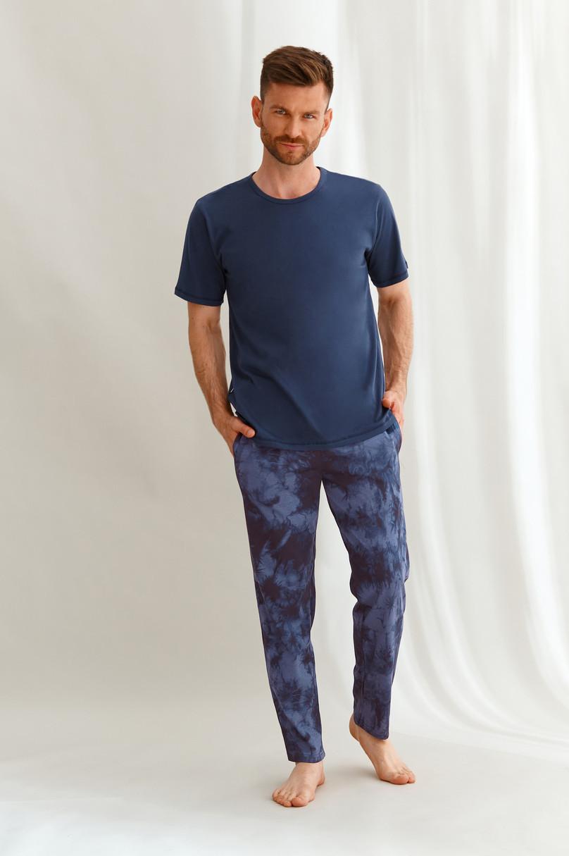 Pánske pyžamo 2629 JACK WINTER 2021 GRANATOWY XL