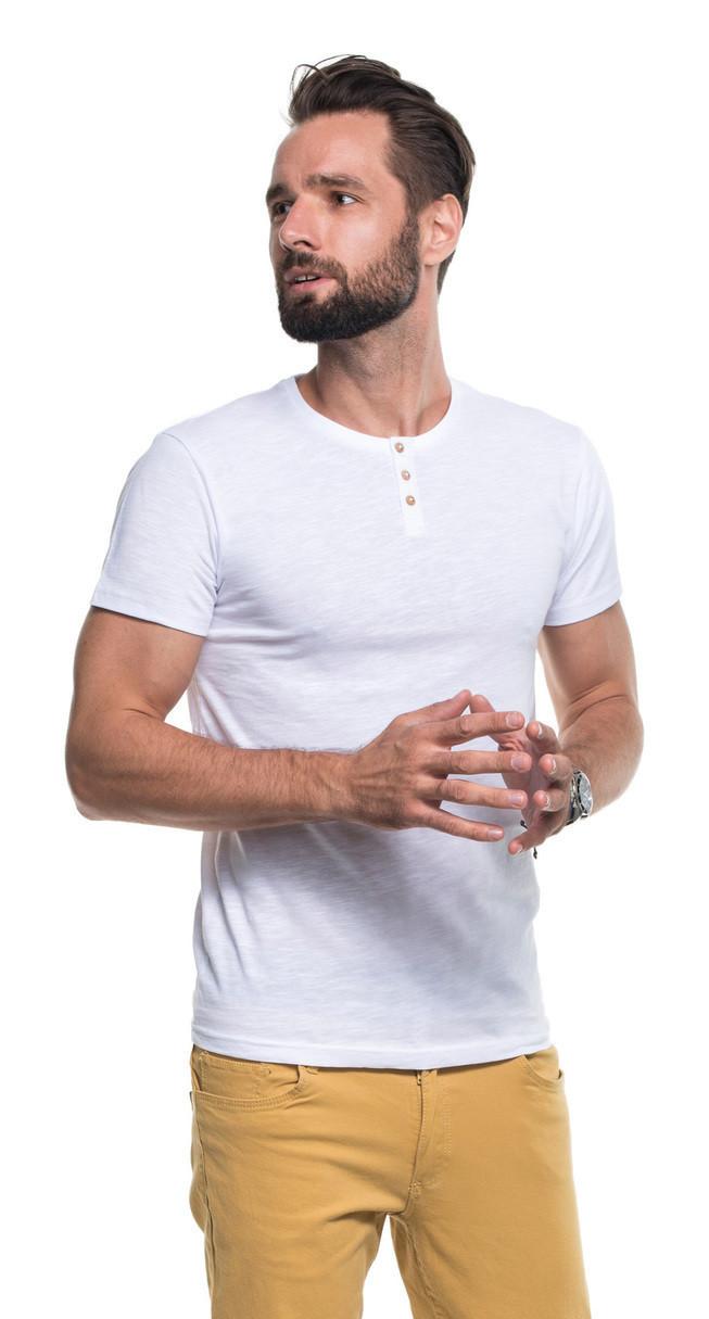 Pánske tričko M Button1 21230 - Promostars tmavě modrá S