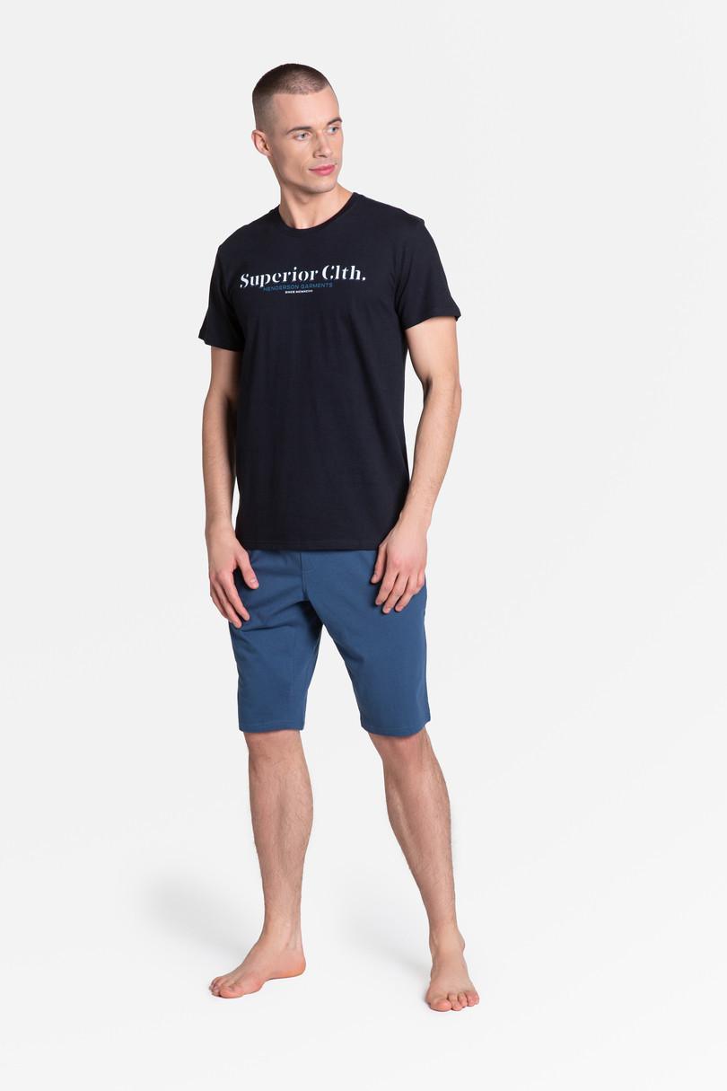 Pánske pyžamo M ZED 38366 černá-jeans XXL
