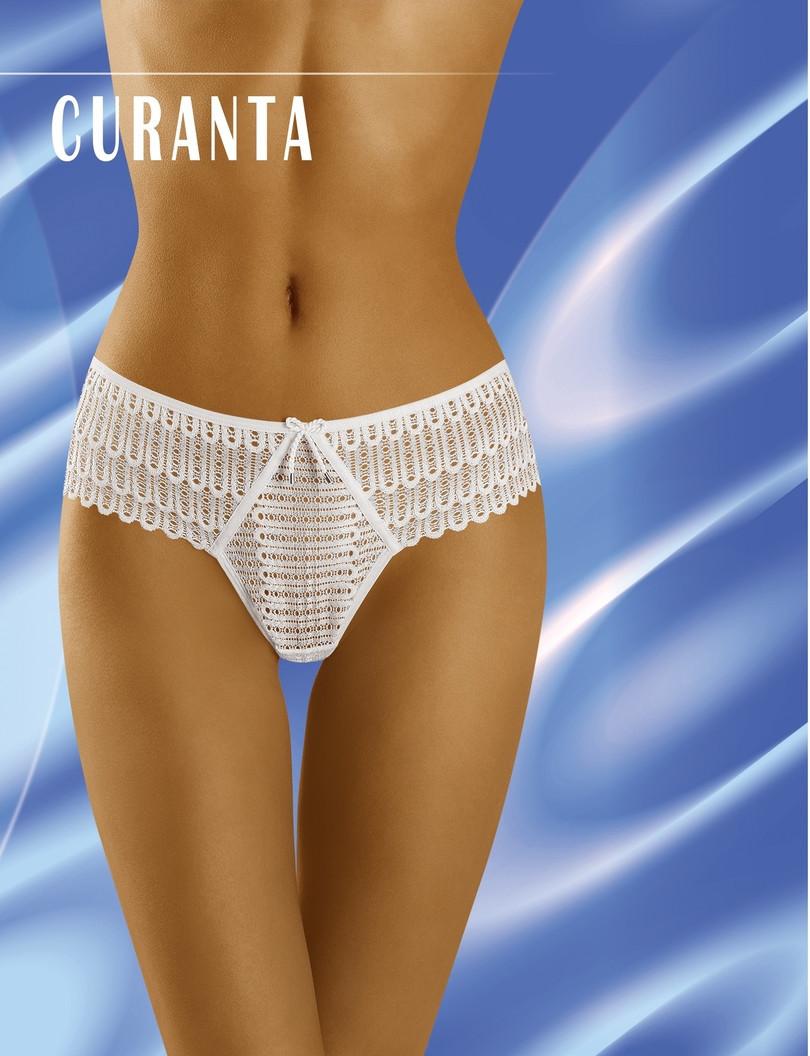 Dámske nohavičky CURANTA bílá/leopardí vzor L