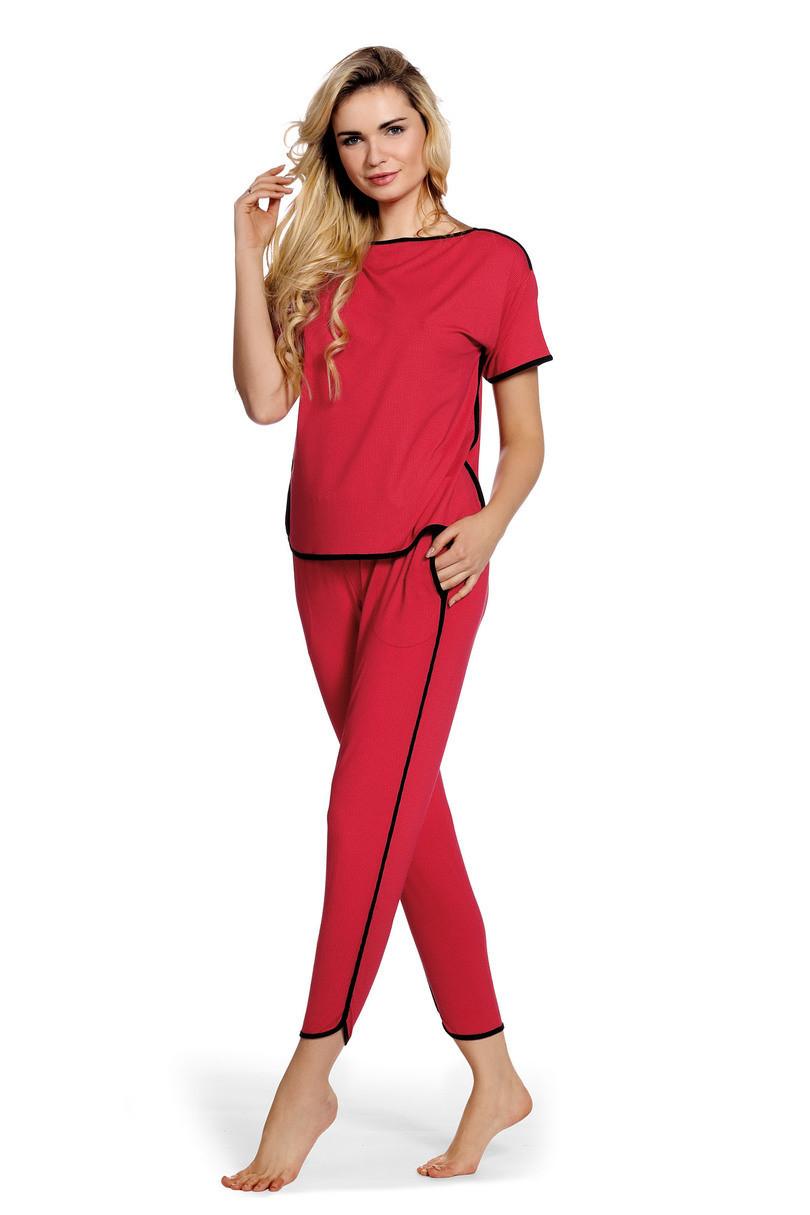 Dámske pyžamo JUDITH krátke rukávy, dlhé nohavice 400 bílá M