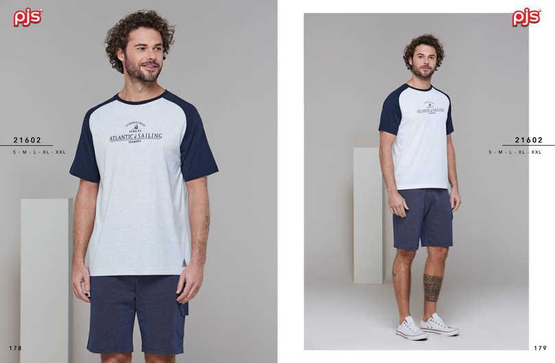 Pánske pyžamo (krátke rukávy / krátke nohavice) 21602 bílá XXL