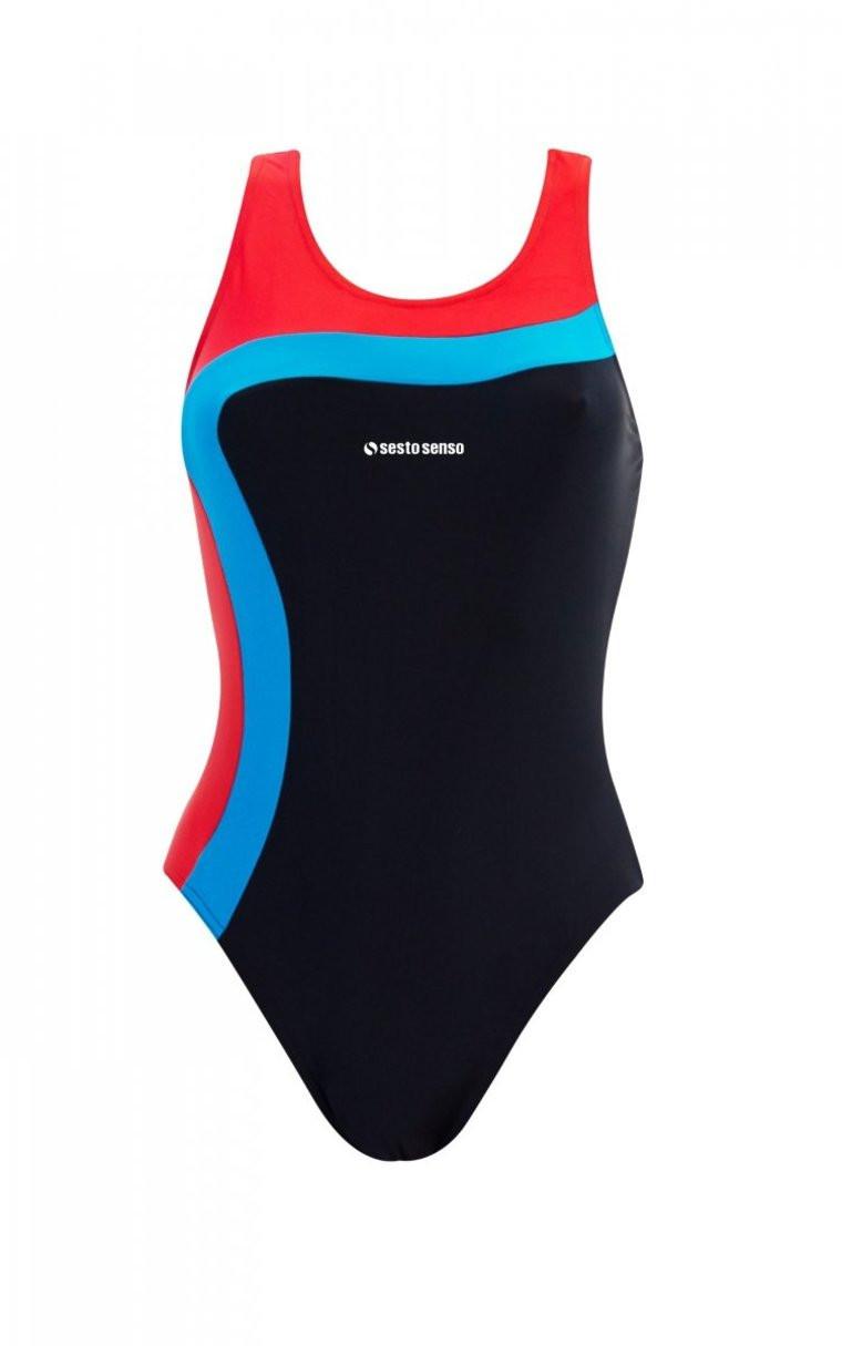 Jednodílné dámské plavky 728 tmavě modrá M