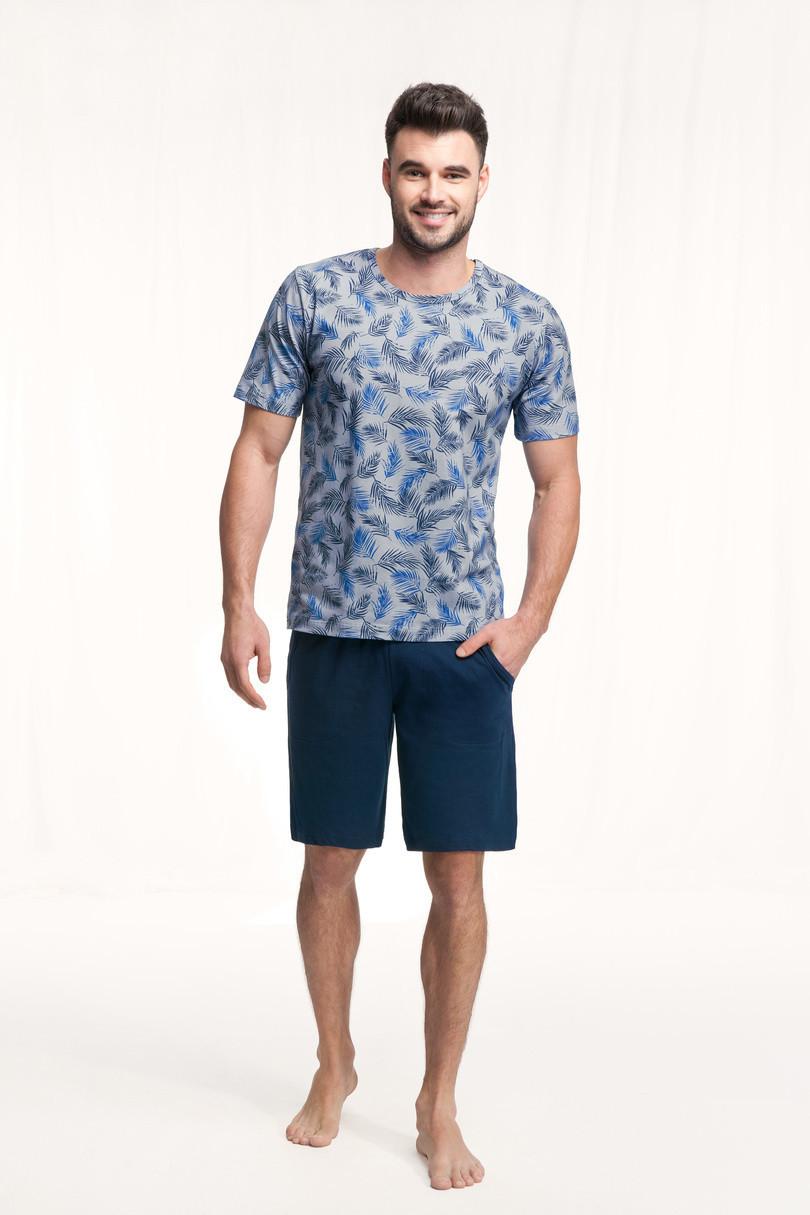 Pánske pyžamo 726 tmavě modrá M