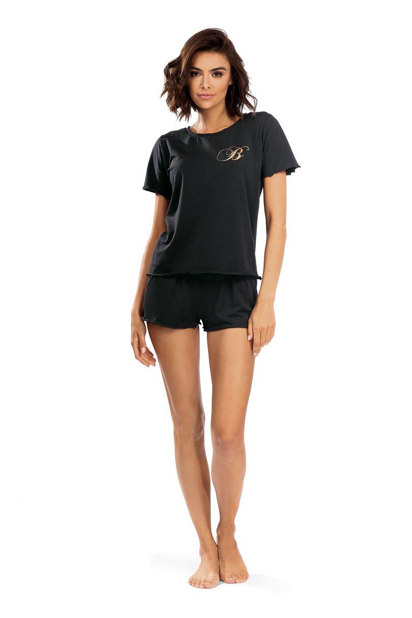 Dámske pyžamo P-1504 černá 40