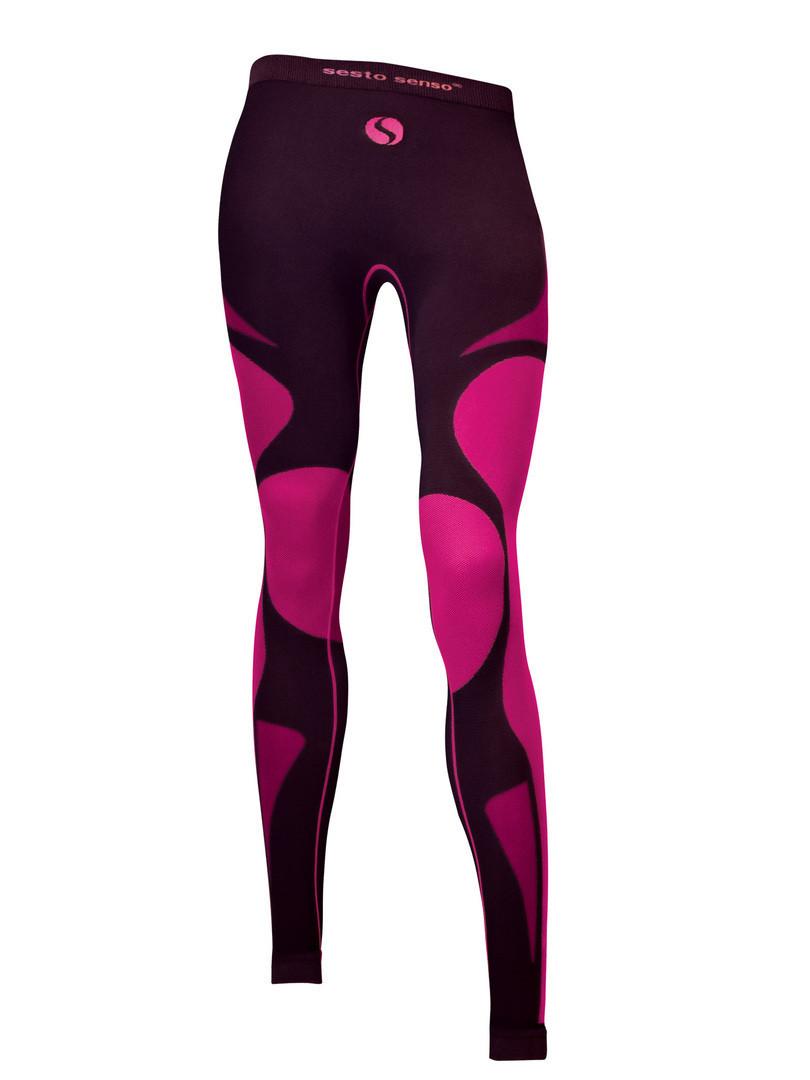Dámské kalhoty THERMO ACTIVE barva: černá-bordó, velikost: XL