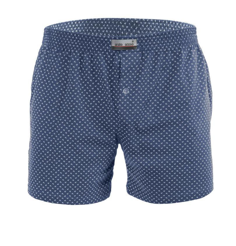 Pánské boxerky PANTHER - SESTO SENSO kotvy-jeans XL