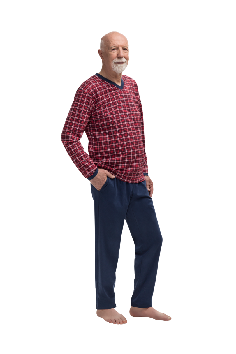 Pánske pyžamo 402 ROMAN BORDO-GRANAT XL