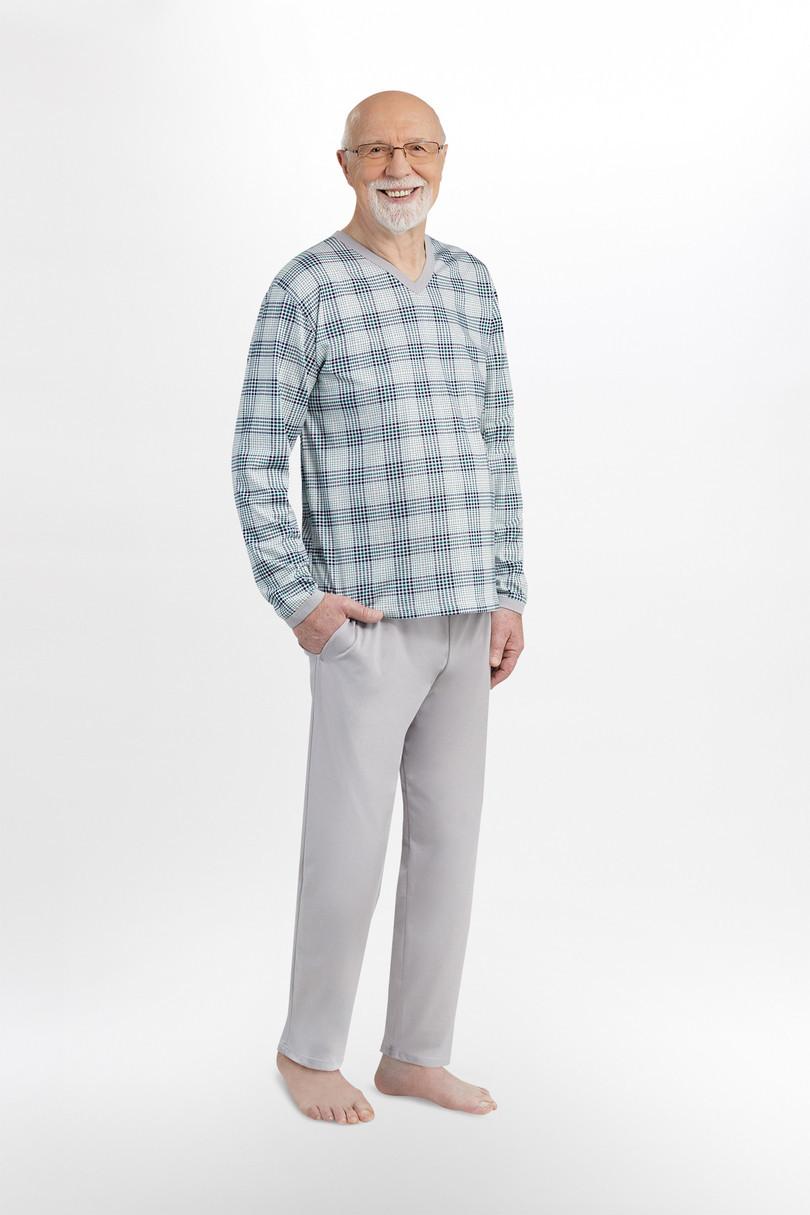 Pánske pyžamo 402 ROMAN BIG GREYRED 4XL