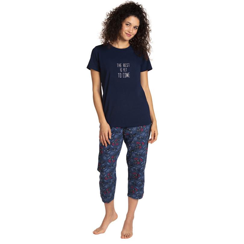 Dámske pyžamo L-1374PY GRANATOWY L