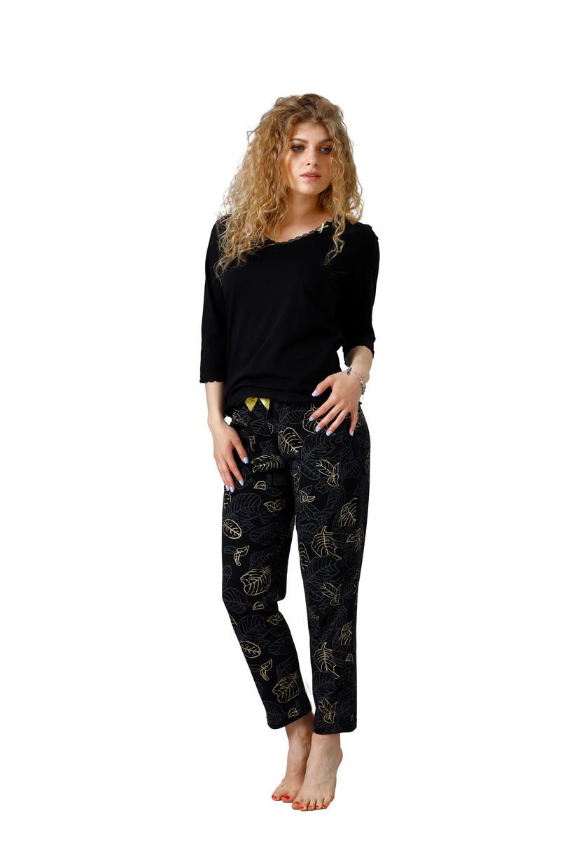 Dámske pyžamo MOLI 1101 BLACK\RED XL