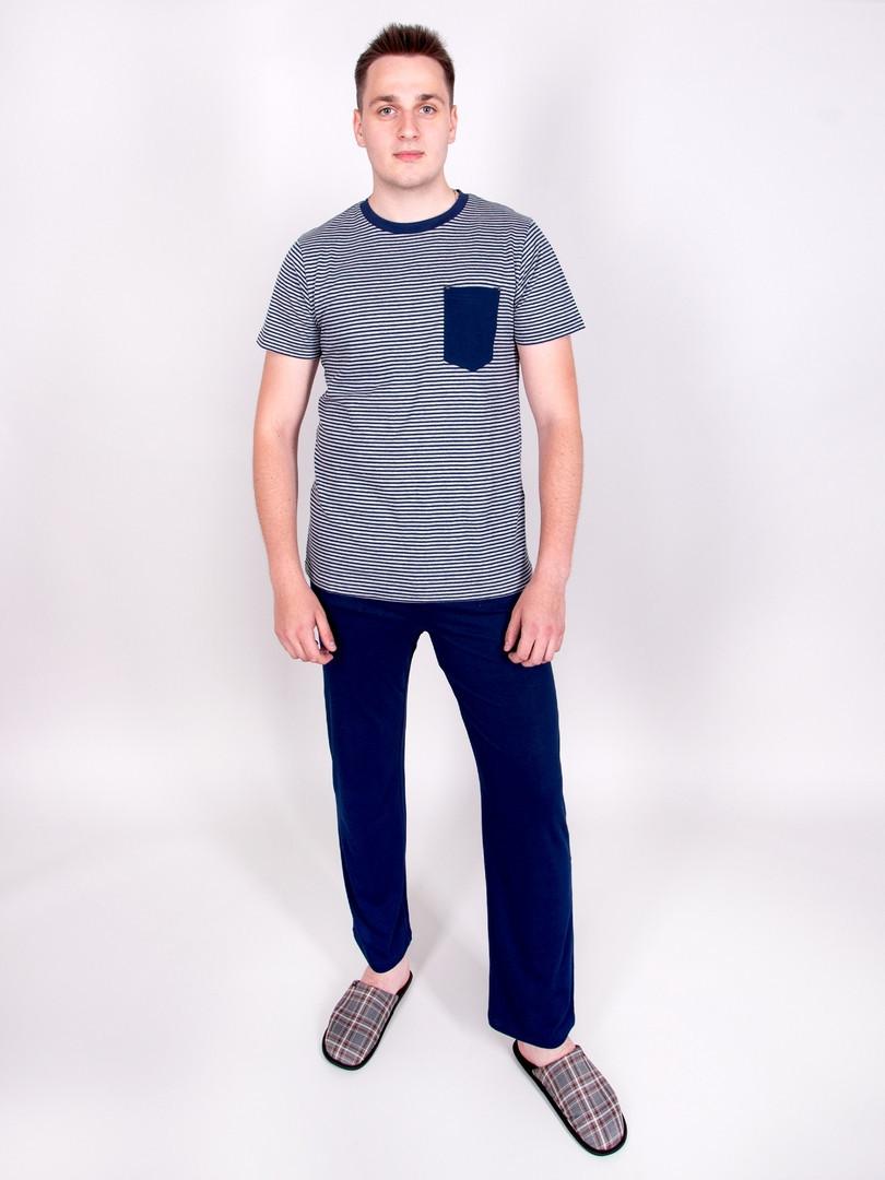 Pánske pyžamo 013 tmavě modrá M