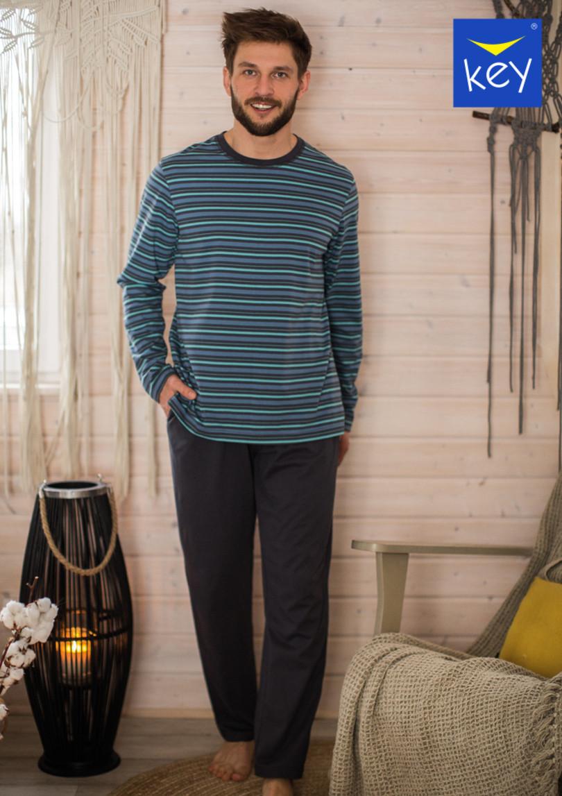 Pánske pyžamo MNS 351 B21 grafit M