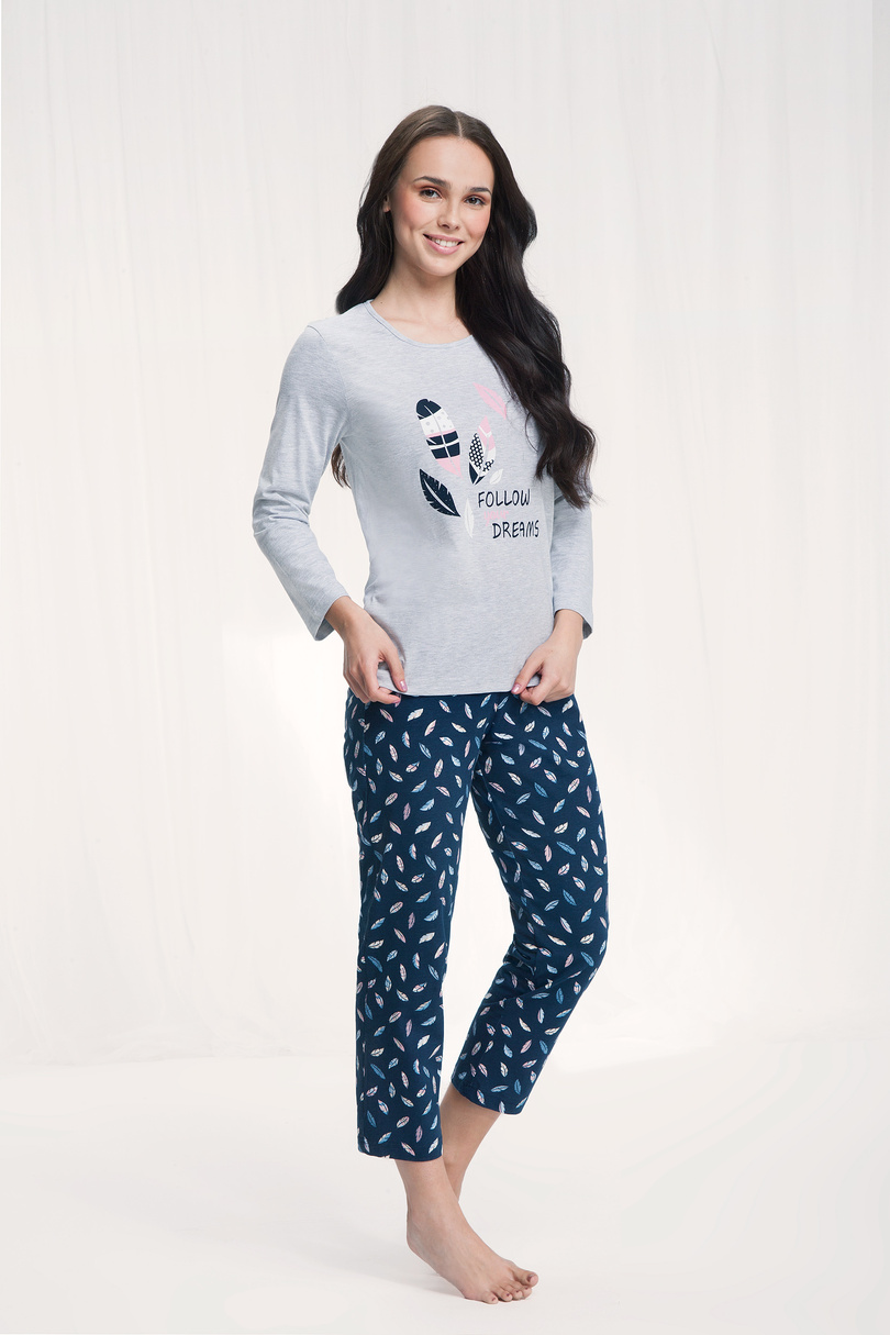 Dámske pyžamo 612 GREYRED L