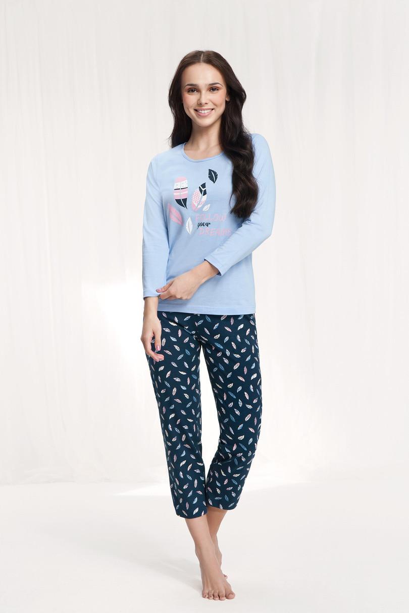 Dámske pyžamo 612 Modrá XL