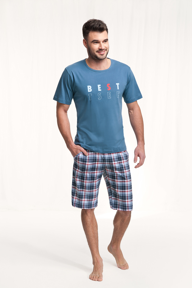 Pánske pyžamo 718 Modrá M