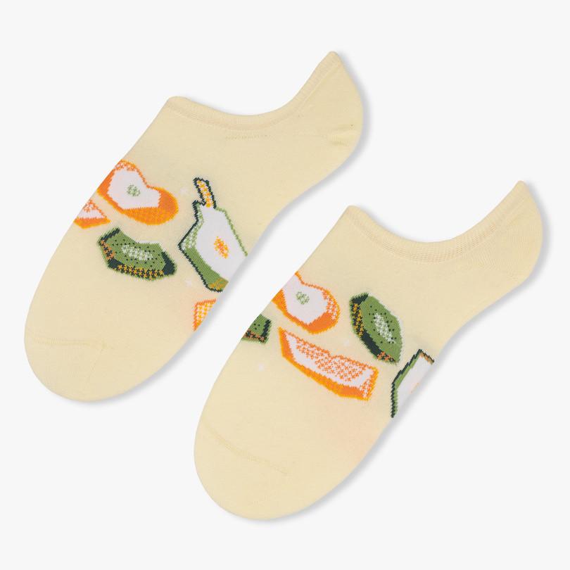 Dámské nízké ponožky 021 světle žlutá 38-40
