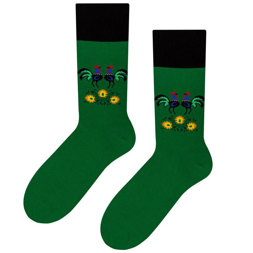 Pánské ponožky folk 056 zelená 39-42