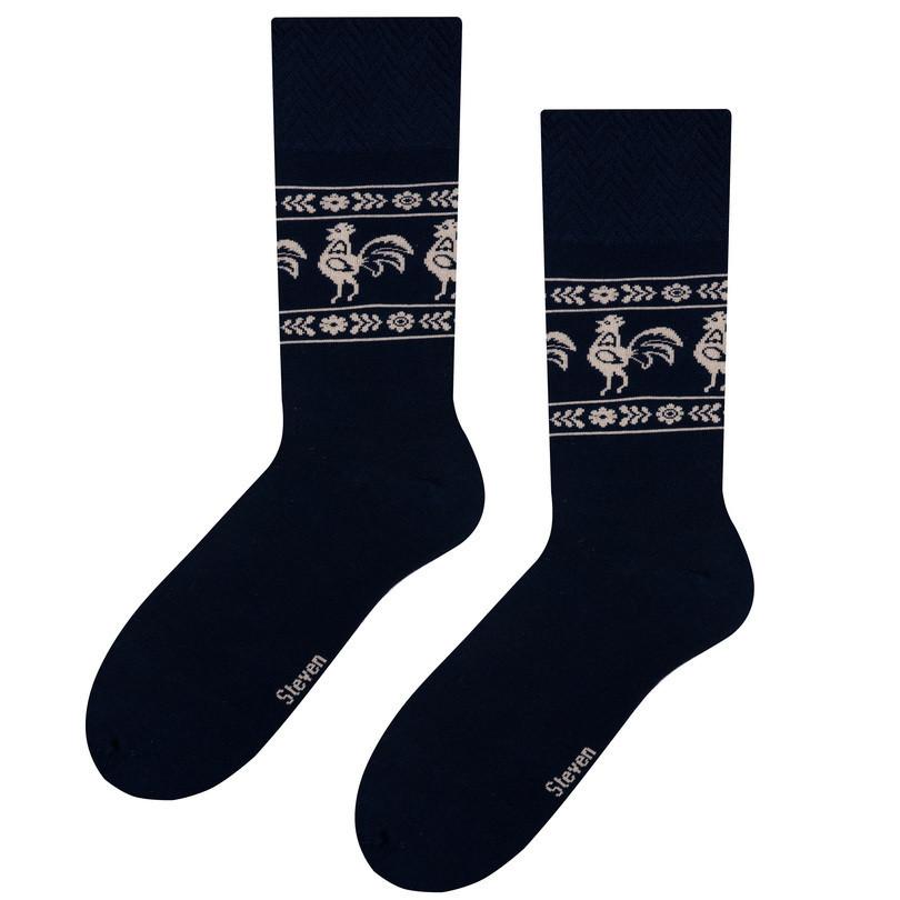 Pánské ponožky folk 056 tmavě modrá 39-42