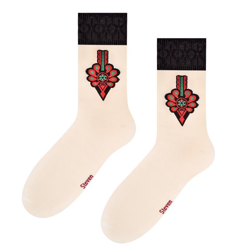 Pánské ponožky FOLK 118 okrová 39-42