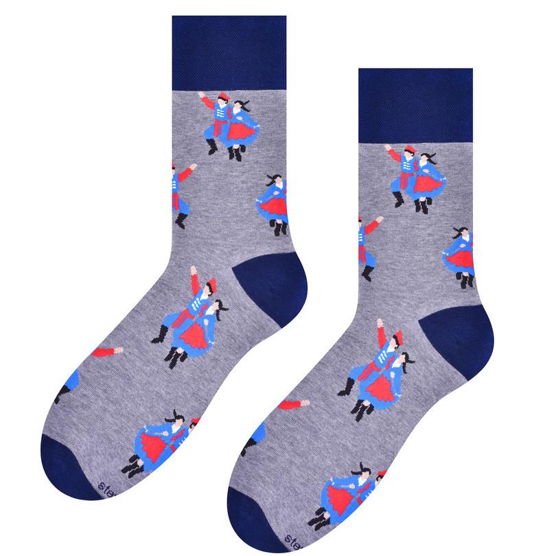 Pánské ponožky FOLK 118 šedá 39-42