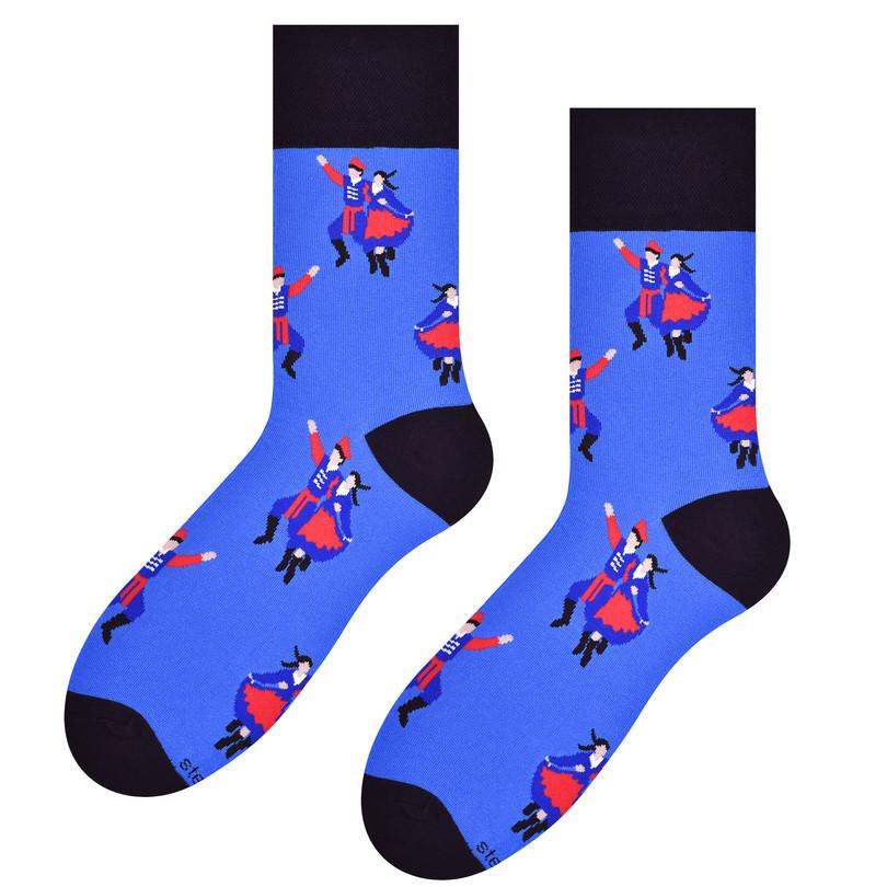Pánské ponožky FOLK 118 modrá 39-42