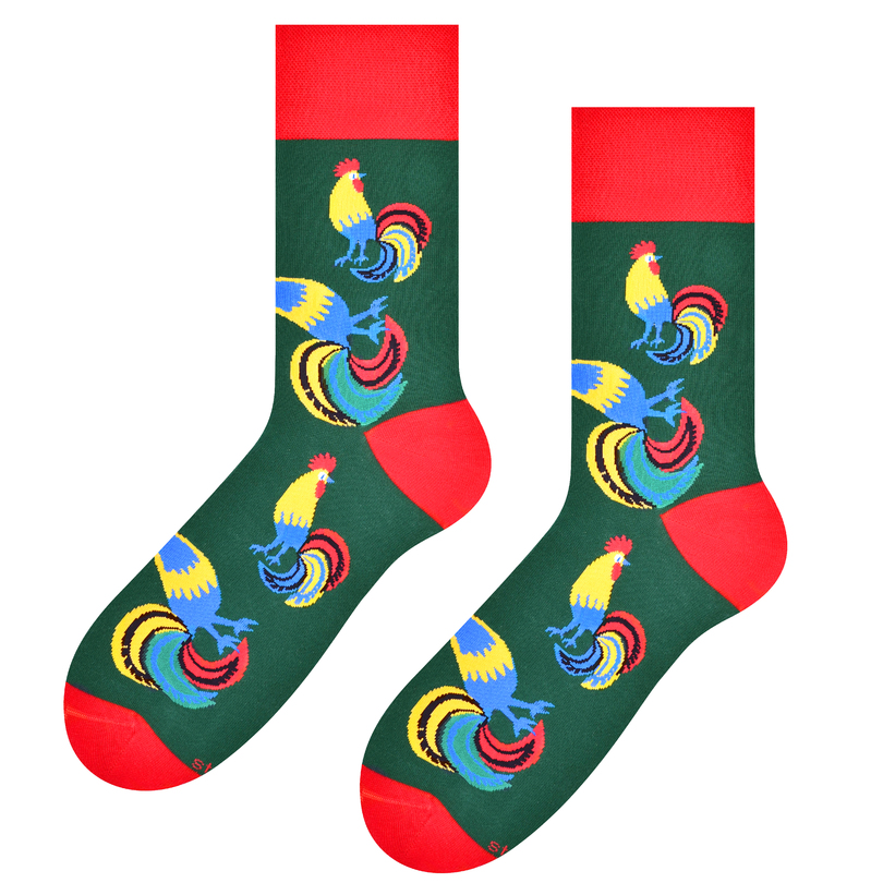 Pánské ponožky FOLK 118 zelená 39-42